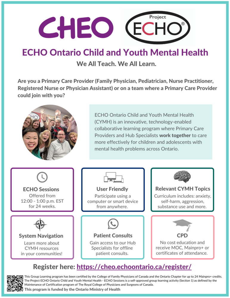 ECHO Ontario Child and Youth Mental Health Next Cycle Begins