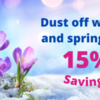 dust off winter header and save 15%