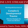 Complex & Developmental Trauma workshop: Effective Strategies for Front-Line Workers