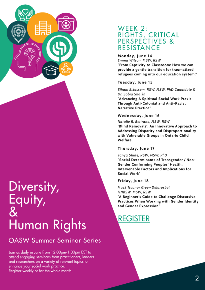 OASW Summer Seminar Series - Week 2: Rights, Critical Perspectives & Resistance