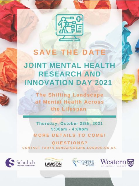 Save the date: Mental Health Research and Innovation Day: Shifting the landscape of mental health across the lifespan