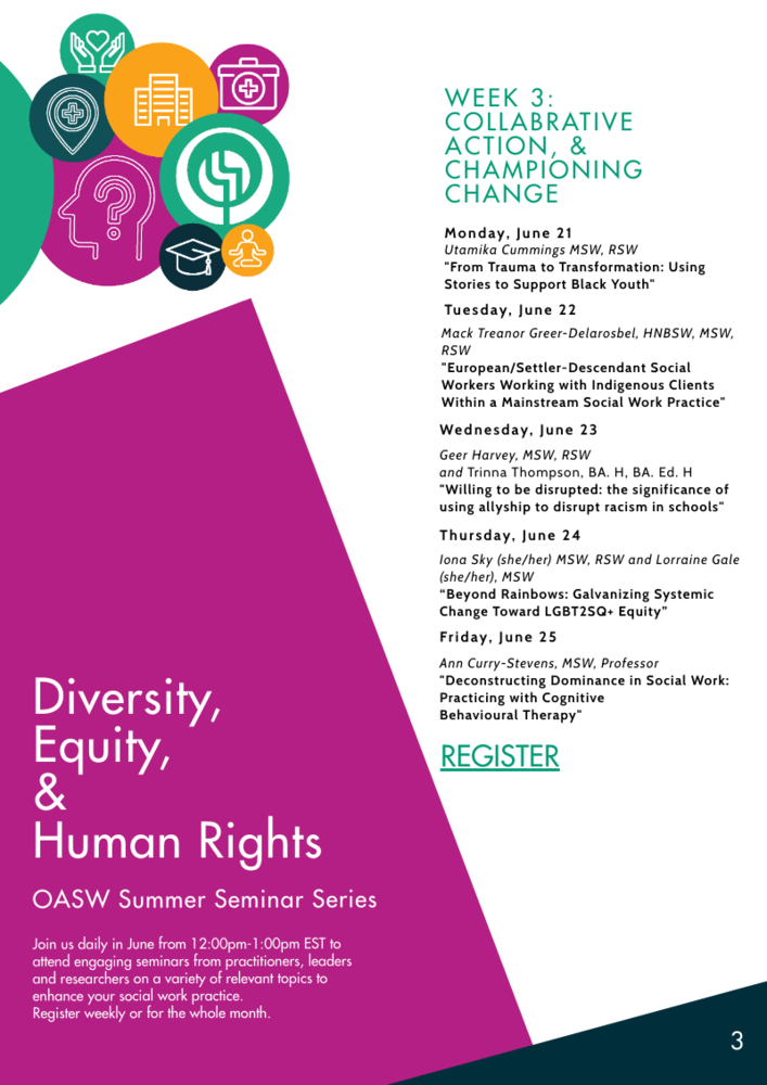 OASW Summer Seminar Series - Week 3: Collaborative Action, & Championing Change