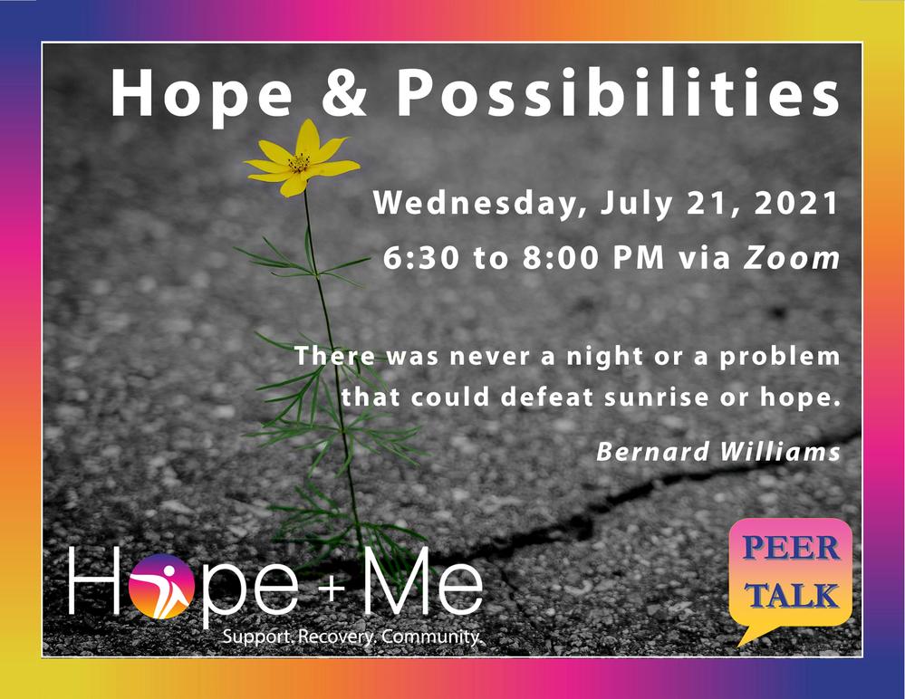 Recovery Webinar: Hope and Possibilities (Speaker Series)