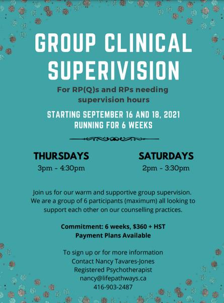 Group Superivision - September 2021