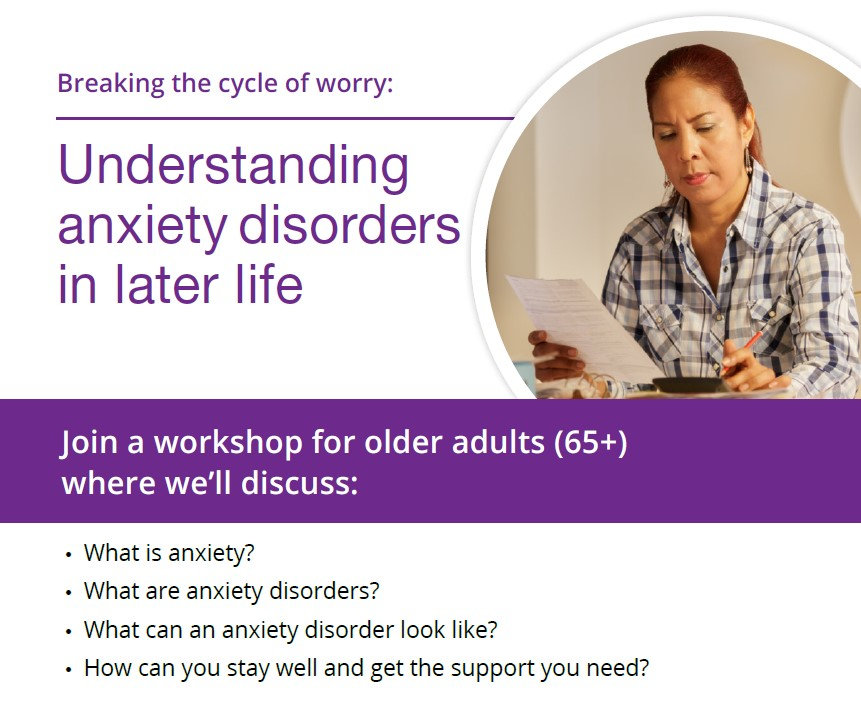 Understanding Anxiety Disorder in Later Life Workshop