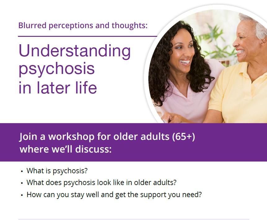 Understanding Psychosis in Later Life Workshop
